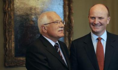 Václav Klaus a Declan Ganley