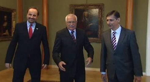 Václav Klaus, Jan Fischer a Jan Kohout