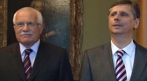 Václav Klaus a Jan Fischer