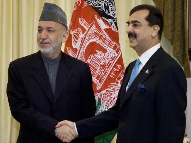 Hamíd Karzáí a Júsuf Ráza Gílání