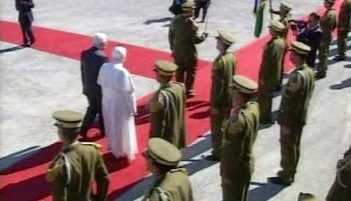 Papeže po příjezdu do Betléma přivítal Mahmúd Abbás