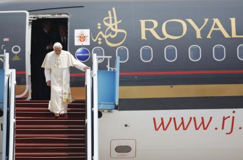 Přílet Benedikta XVI.