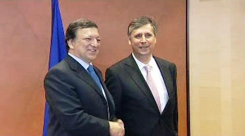 José Manuel Barroso a Jan Fischer