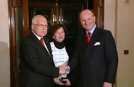Václav Klaus a Dean Ganley