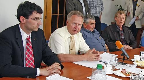 Jan Veleba se zástupci zemědělců kraje Vysočina
