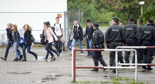 Německá policie v Sankt Augustinu