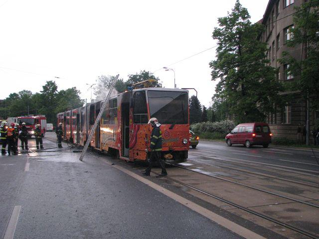 Shořelá tramvaj
