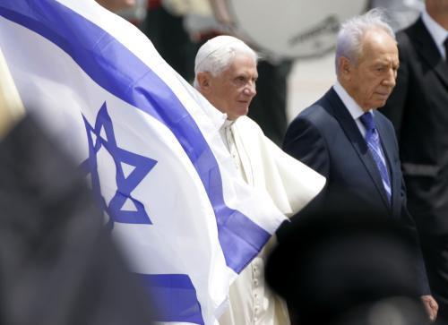 Benedikt XVI. a Šimon Peres