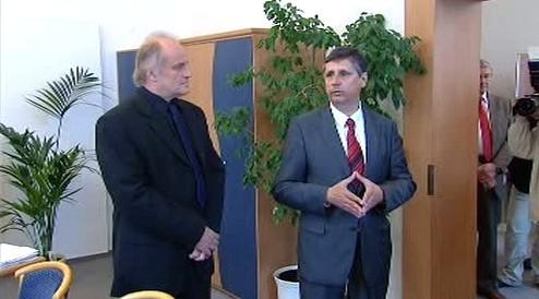 Michael Kocáb s Janem Fischerem