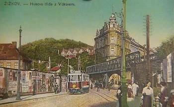 Žižkovský železniční most - historický pohled