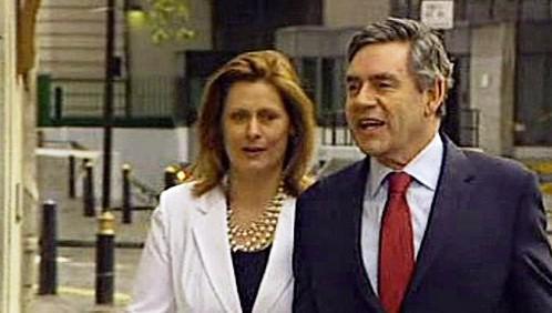 Gordon Brown s manželkou
