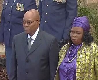 Jacob Zuma s manželkou