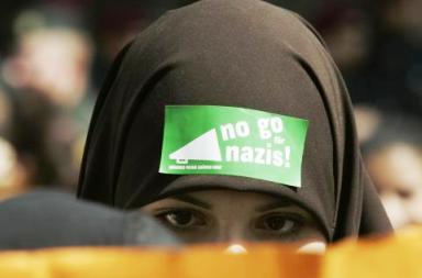 Němečtí muslimové protestují