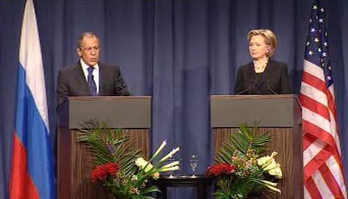 Sergej Lavrov a Hillary Clintonová