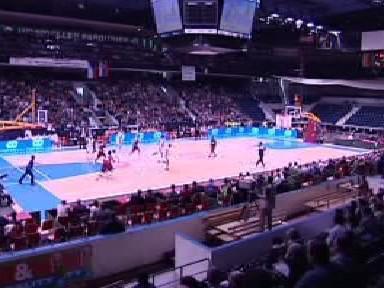 Interiér basketbalové haly
