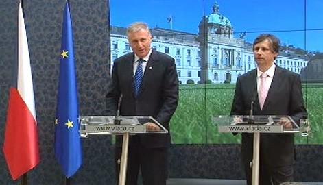 Mirek Topolánek a Jan Fischer