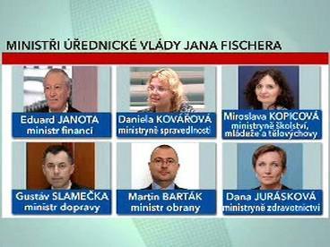 Ministři úřednické vlády