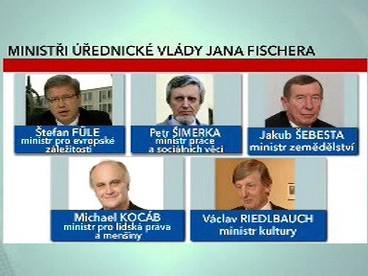Ministři úřednické vády