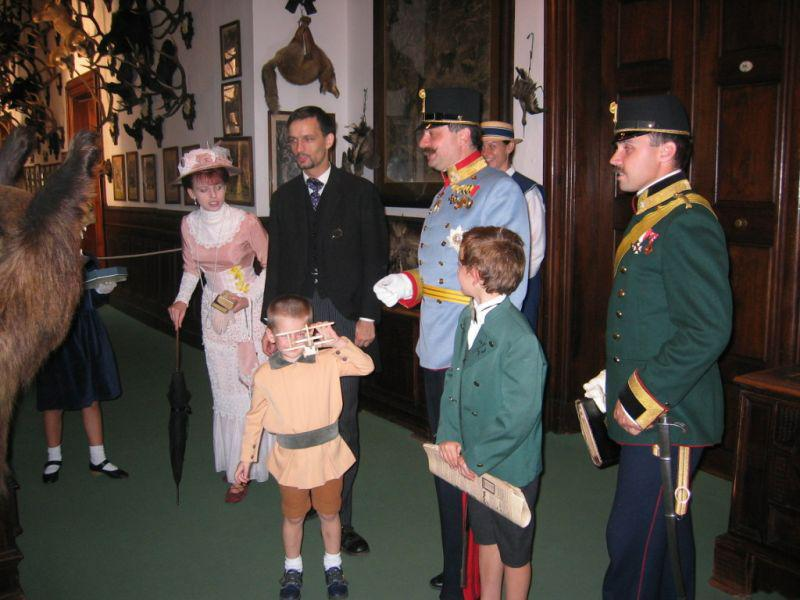 Arcivévoda s rodinou
