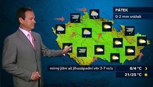 Páteční předpověď počasí