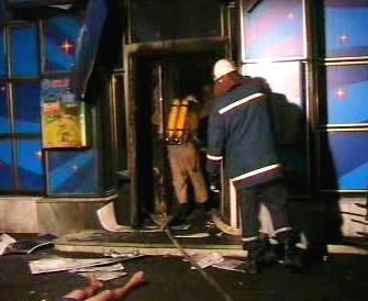 Výbuch v ukrajinské herně