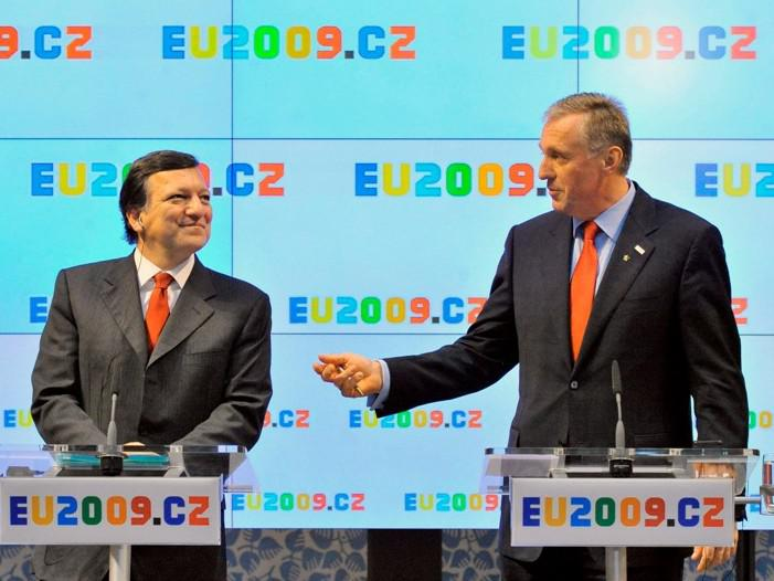 José Barroso a Mirek Topolánek