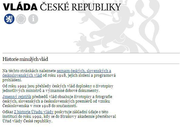 Internetové stránky Vlády ČR
