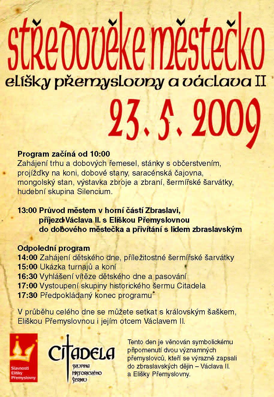 Zbraslav - plakátek