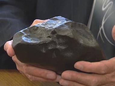 Úlomek příbramského meteoritu