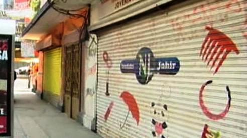 Zavřené obchody v Mexiku