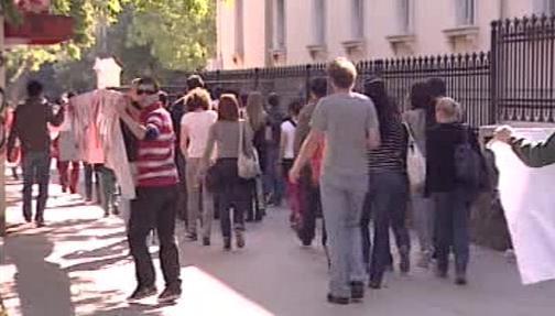 Protesty chorvatských studentů