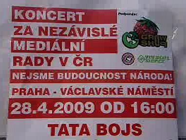 Plakát lákající na demonstraci