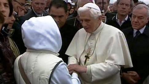 Papež Benedikt XVI. v Aquile