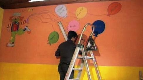 Oprava školky v Aquile
