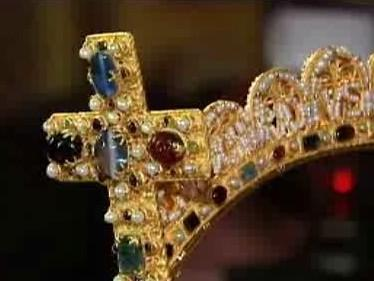 Kopie císařské koruny - detail