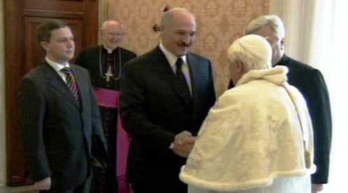 Alexandr Lukašenko a Benedikt XVI.