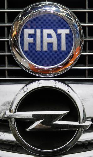 Loga firem Fiat a Opel
