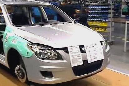 Výroba vozů Hyundai