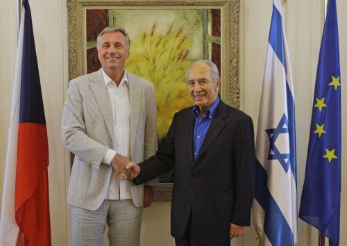 Mirek Topolánek a Šimon Peres