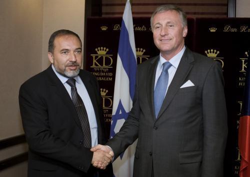 Avigdor Lieberman a Mirek Topolánek