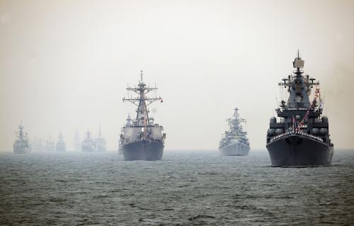 Oslavy čínského vojenského námořnictva