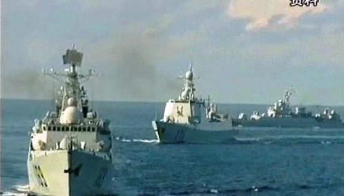 Čínské vojenská flotila
