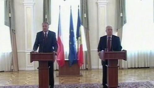 Mirek Topolánek a Vladimir Voronin