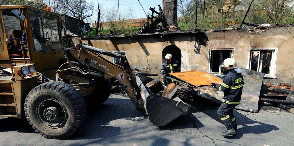 Likvidace požáru ve Vítkově