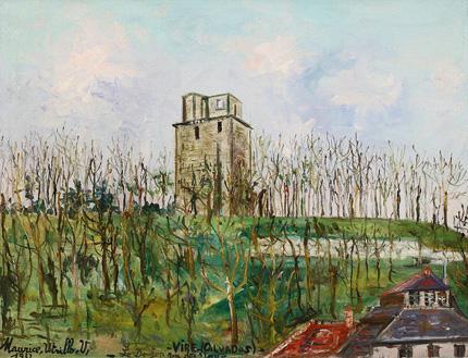 Maurice Utrillo: Le donjon rue des Veaux