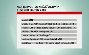 Trestná činnost ruských gangů v roce 2007