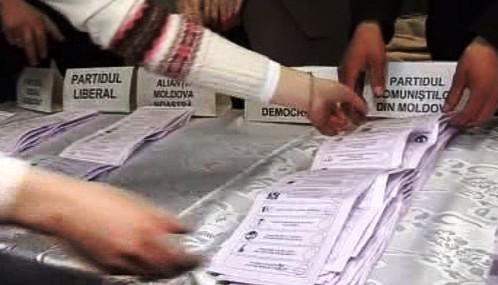 Sčítání hlasů v Moldavsku