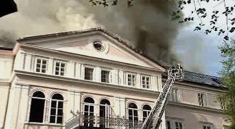 Požár zámku Arenberg