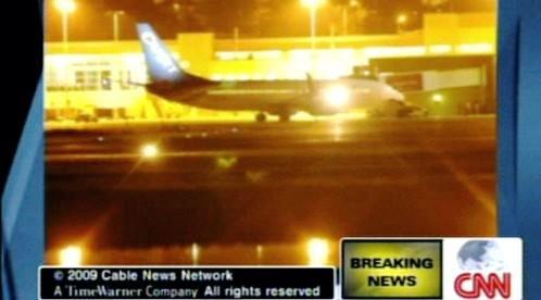 Letadlo na letišti v Montego Bay