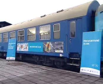 Preventivní vlak bezpečné železnice
